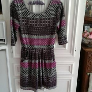 Speechless 3/4th sleeve sweater dress and necklace